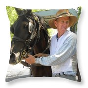 An Old Fashion Delivery Throw Pillow