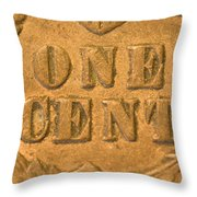 An Old United States Indian Head Penny Throw Pillow