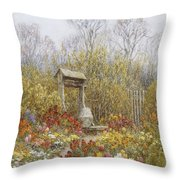 An Old Well Brook Surrey Throw Pillow