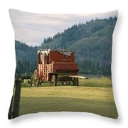 An Orginal Carriage And Other Equipment Throw Pillow