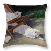 An Uninvited Guest Throw Pillow