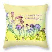 An Unloved Flower Throw Pillow
