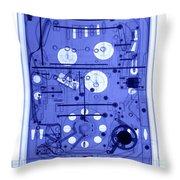 An X-ray Of A Pinball Machine Throw Pillow