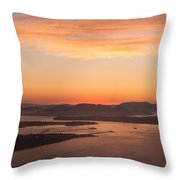 Anacortes Islands Sunset Throw Pillow