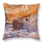 Anasazi Indian Ruin - Cedar Mesa Throw Pillow