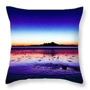 Anchor Point Beach Twilight Throw Pillow