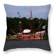 Anchored Ship Throw Pillow