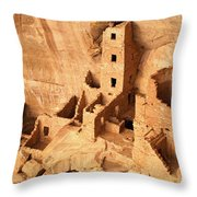 Ancient Anasazi Indian Cliff Dwellings Throw Pillow