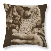 Ancient Cobra Throw Pillow