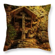 Ancient Cross. Holy Island  Throw Pillow