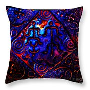 Ancient Family In Cosmos Throw Pillow