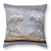 Ancient Hockey Throw Pillow