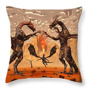 Ancient Lava Dragons Born Of Fire Throw Pillow