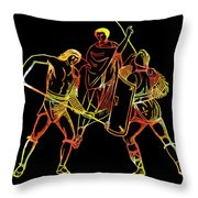 Ancient Roman Gladiators Throw Pillow