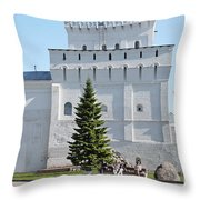 Ancient Tower Throw Pillow