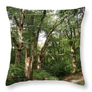 Ancient Woodland Throw Pillow