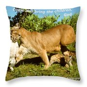 And Bring The Children Throw Pillow