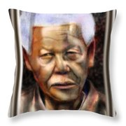 And God Remembered Prisoner 46664 Throw Pillow by Reggie Duffie