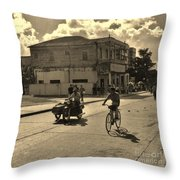 And The Bicycle Wins Throw Pillow
