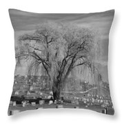 And The Willow Tree Weeps Throw Pillow