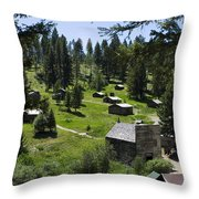 And There You Find Garnet Ghost Town Throw Pillow