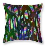 And They All Came Tumbling Down Throw Pillow
