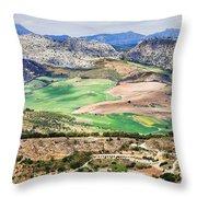 Andalucia Countryside Throw Pillow