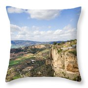 Andalusia Landscape In Spain Throw Pillow