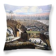 Andersonville Prison, 1864 Throw Pillow