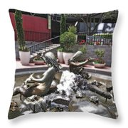 Andrea's Fountain At Ghirardelli Square Throw Pillow