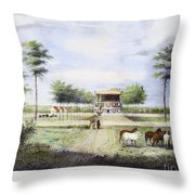 Andrew Jackson: Hermitage Throw Pillow