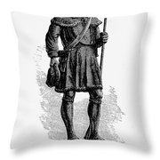 Andrew Lewis (1720-1781) Throw Pillow by Granger