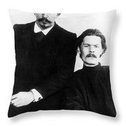 Andreyev And Gorki Throw Pillow