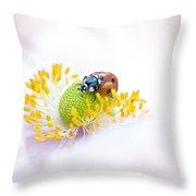Anemone Lady Throw Pillow