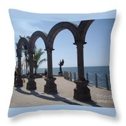 Angel At Puerto Vallarta Throw Pillow