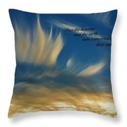 Angel Clouds Throw Pillow