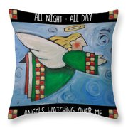 Angel Flight Poster Throw Pillow