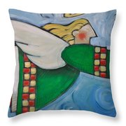 Angel Flight Throw Pillow