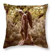Angel In Tears Throw Pillow
