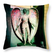 Angel In The City Of Angels Throw Pillow