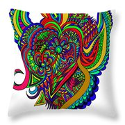 Angel Throw Pillow by Karen Elzinga