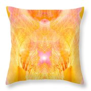 Angel Of Divine Protection Throw Pillow