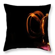 Angel Of Fire Throw Pillow