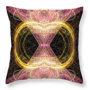 Angel Of Groups And Gatherings Throw Pillow