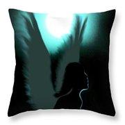 Angel Of Moonlight Throw Pillow