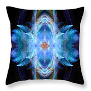 Angel Of Safe Travel Throw Pillow