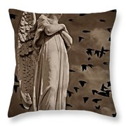 Angel Of Stone S Throw Pillow