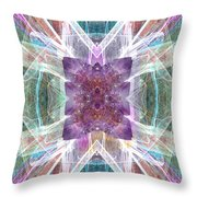 Angel Of The Crystal World Throw Pillow