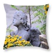 Angel Of The Garden Throw Pillow