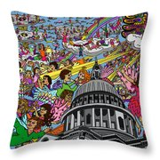 Angel Pickup And Delivery Throw Pillow by Karen Elzinga